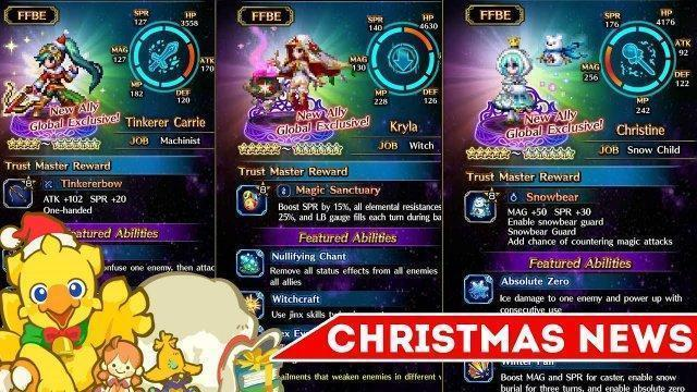 [FFBE] Final Fantasy Brave Exvius - Christmas Exclusives Are Here!!