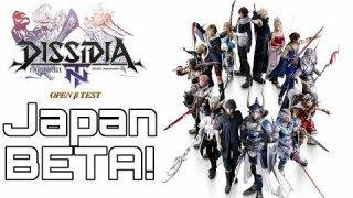 DISSIDIA FINAL FANTASY NT Open Beta Gameplay Japanese!