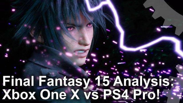 [4K HDR] Final Fantasy 15: Xbox One X vs PlayStation 4 Pro - The Complete Analysis
